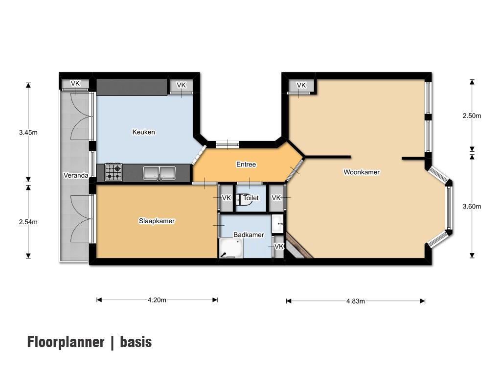 Huistekenservice interactieve plattegronden van for Plattegrond woning